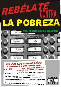 Convocada Concentración Contra la pobreza en Cáceres