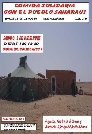 2 de diciembre. Comida solidaria con el pueblo saharahui